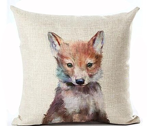 Animal Throw Pillow Cover