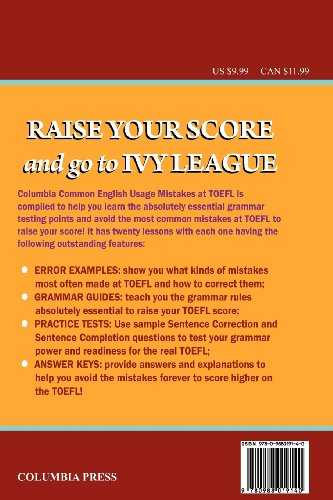 Columbia Common English Usage Mistakes at TOEFL