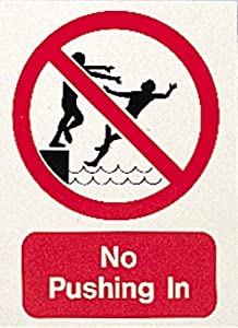 New Os Swimming Pool No Pushing In Sign Swimmers Pool Health Safety Sign Sports
