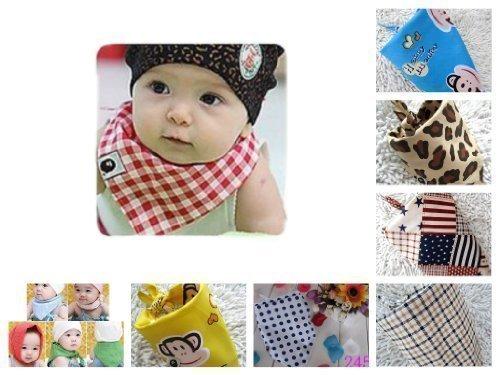 Bella bambini Confezione da 6 moda & funky del bambino bandana palleggio Catcher bib / Foulard / Bandana (Disegno 1)