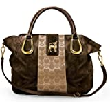 Amazon.com: Faithful Friend Quilted Tote Bag and Cosmetic ...