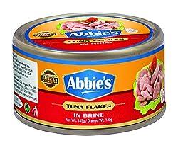 Abbies Tuna Flakes in Brine, 185g
