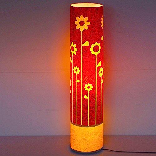 art-deco-garden-of-flowers-red-yellow-paper-shade-modern-floor-lamp-dining-bedroom-light
