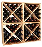 96 Bottle Wine Storage Cube Collection (4 Cubes - Ponderosa Pine)