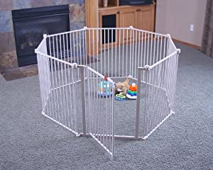 Regalo Super Wide Gate and Play Yard, White