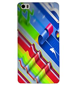XIAOMI MI5 COLORFUL LINES Back Cover by PRINTSWAG