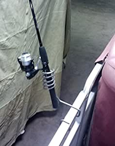 Pontoon rail fishing rod holder sports outdoors for Amazon fishing rod holders