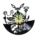 Aaahh-REAL-MONSTERS-HANDMADE-Vinyl-Record-Wall-Clock-Get-unique-home-wall-decor-Gift-ideas-for-teens-boys-and-girls-Anime-Lover-Cool-Decor-Leave-us-a-feedback-and-win-your-custom-clock