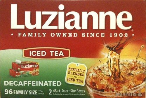 Luzianne Decaffeinated Iced Tea 96 Family Size Bags