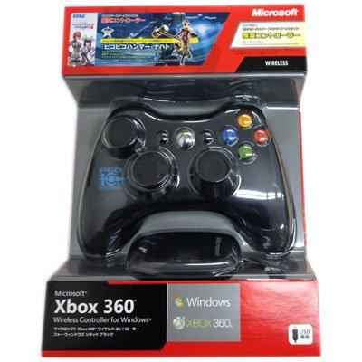 [ファンタシースターオンライン2推奨]マイクロソフト ワイヤレス ゲームコントローラー Xbox 360 Wireless Controller for Windows リキッドブラック JR9-00013