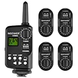 Neewer FT-16 16-Channel Wireless Remote Controller Flash Trigger Set Includes (1) Transmitter and (4) Receivers for AD180 AD360 Speedlite Flash, Suitable for Canon, Nikon, Pentax, Olympus Cameras