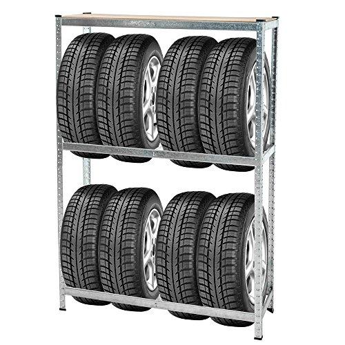 tectake porta pneumatici supporto del pneumatico scaffale mensola da garage intelaiatura. Black Bedroom Furniture Sets. Home Design Ideas