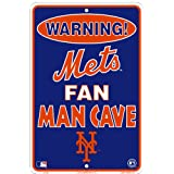 New York Mets Fan Man Cave Sign 8 X 12