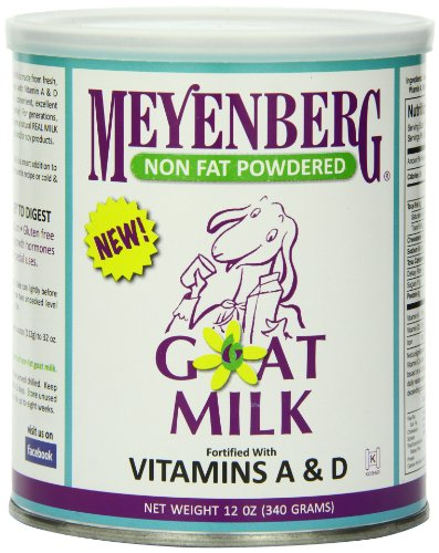 Meyenberg Nonfat Powdered Goat Milk, Vitamins A & D, 12 Ounce (Fat Free Milk compare prices)