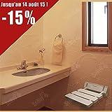 SoBuy FWH01-W Siège de douche mural repliable / rabattable salle de bain- Blanc