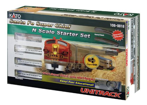 Kato USA Model Train Products N Scale Santa Fe Super Chief Starter Set (Model Trains N Scale compare prices)