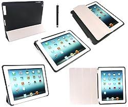 Emartbuy® iPad 3 & iPad 2 Compatible Black Smart Cover & Black Smart Gel Case