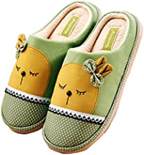 Zoe39s WomenMen Winter Bowknot Cute Indoor Slippers Clog Cotton Slippers Shoes Plush Warm Slippers