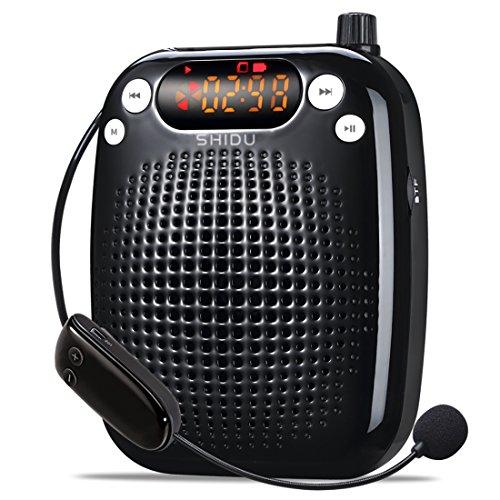 amplificateur-voix-portable-rechargeable-avec-haut-parleur-microphone-sans-fil-uhf-10-jouer-heures-t