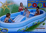 Inflatable drinking water Slides:Slide N squirt Pool, drinking water Capacity 171 Gallons