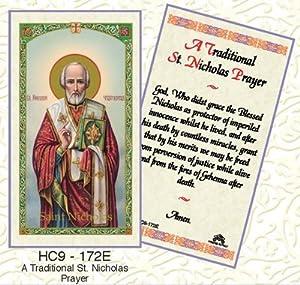 Amazon.com : Saint/St. Nicholas Holy Card Patron of Sick
