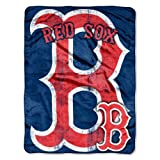 MLB Boston Red Sox Micro Raschel Plush Throw Blanket, Trip Play Design at Amazon.com