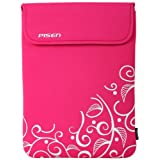 8 - 10.1 inch Hot Pink Fleur Leaves Netbook Notebook Laptop Sleeve Bag Carrying Case ~ MyGift