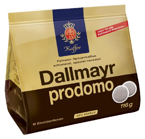 Dallmayr prodomo, Pack of 5, 5 x 16 Coffee Pods