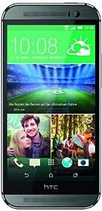 HTC One (M8) Smartphone (12,7 cm (5 Zoll) LCD-Display, Quad-Core, 2,3GHz, 2GB RAM, 5 Megapixel Frontkamera, FM-Radio, Android 4.4.2) metallgrau