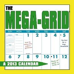 Mega-Grid 2013 Calendar