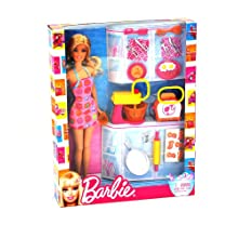 Mattel V8656 Barbie Doll And Kitchen Accessory Set