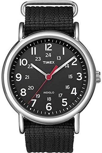 Timex T2N647 Orologio da Polso al Quarzo, Analogico, Uomo, Nylon, Nero