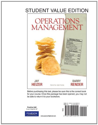 Operations Management, Student Value Edition (10th Edition)