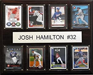 MLB Texas Rangers Josh Hamilton Eight Card Plaque by C&I Collectables