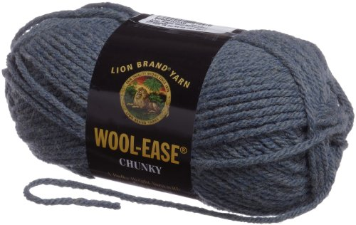 Lion Brand Yarn 630-178A Wool-Ease Chunky Yarn, Nantucket