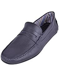 La Repute Men's Leather Black Formal Loafer Shoes - B012FWVGFI