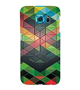 PrintVisa Geometrical Pattern 3D Hard Polycarbonate Designer Back Case Cover for Samsung Galaxy S6