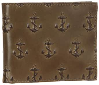 Jack Spade Embossed Anchor Bill Holder Wallet,Moss,One Size