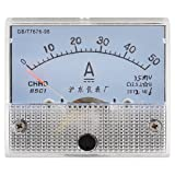 Screw Mounted Class 2.5 Accuracy DC 50A Analog Amp Ammeter Panel Meter