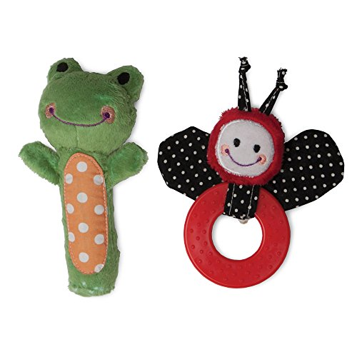 Boppy Gentle Forest Lil Ladybug Teether and Frankie Frog Squeaker