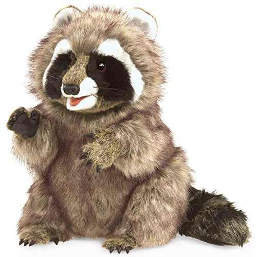 Folkmanis-Raccoon-Hand-Puppet-Plush
