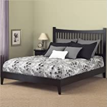 Hot Sale Fashion Bed Group Jakarta Queen Bed Frame with Headboard, Black
