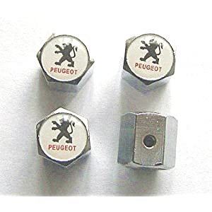 Peugeot Anti-theft Car Wheel Tire Valve Stem Caps