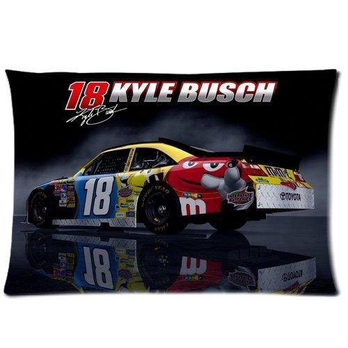 Kyle Busch 18 M&M Car Custom Pillowcase Cover Two Side Picture Size 16x24 Inch