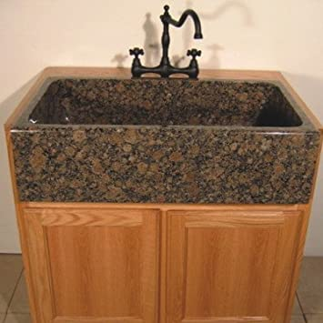 "Farm Charm 33"" x 19"" Single Bowl Farmhouse Granite Kitchen Sink Finish: Baltic Brown"