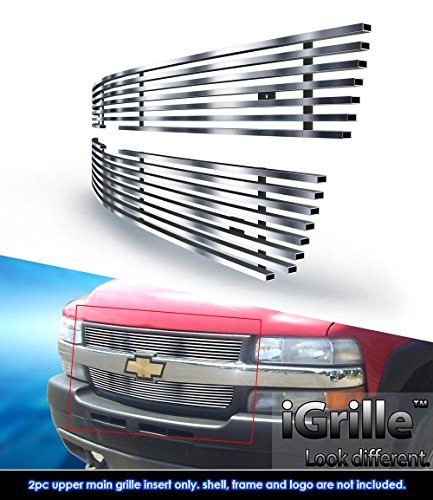 eGrille Fits 01-02 Chevy Silverado 2500/3500 HD Stainless Billet Grille Insert (2500 Hd Grill Inserts compare prices)