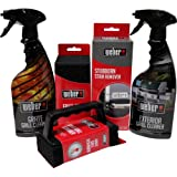 Weber Grill Cleaning Kit - Exterior and Grate Grill Cleaner, Stubborn Stain Remover, and Grill Scrubber with Extra Scrubber Pads