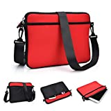 Kroo Case/Pouch/Tablet Carrying Bag Sleeve with Shoulder Strap for Dell Venue 8 Pro (Windows) Tablet/Loose fit in Red