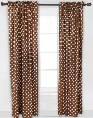 Butterflies pink/chocolate Curtain Panel