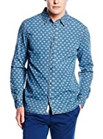 Pepe Jeans London Camisa Hombre Latrobe (Azul Oscuro)